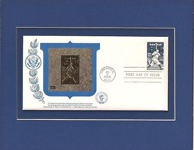 BABE RUTH - NY YANKEES - 23k GOLD STAMP REPLICA - FRAMEABLE STAMP ART - 0652, used for sale  Murfreesboro