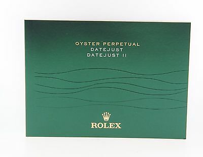 Rolex Oyster Perpetual Datejust II Booklet Manual English 2012