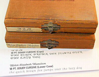 Kingsley Machine Type 18pt. Goudy Cursive Hot Foil Caps Lower Case Numbers