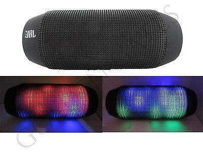 JBL Pulse - Black Splashproof Portable NFC Bluetooth Speaker with Light Show