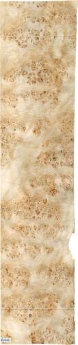 "Mappa Burl wood veneer 18"" x 76"" raw with no backing 1/42"" thickness AAA grade"