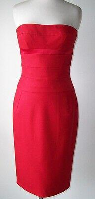 ALEXANDRE VAUTHIER Red Strapless Bustier Dress 40 8