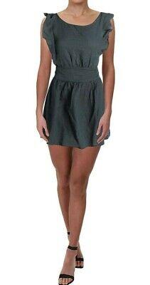 Free People Women Green Dress Linen Size L