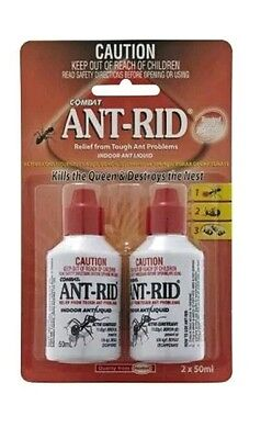 2 x 50ml Ant Rid Pest Control Indoor Liquid Bait Killer Australia Wide Postage.