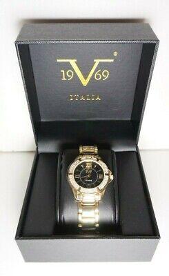 Versace V 1969 Italia Abbigliamento Womens Gold/Black WatchNew  $115