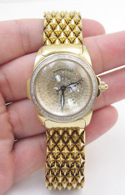 Invicta Women's Diamond Pave 2973 Gold Tone Swiss Quartz Limited Edition Watch