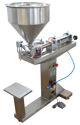 110v 5-100ml Liquid Paste Filling Machine Bottle Filler With Stand Single Nozzle
