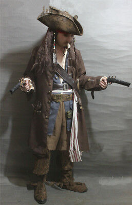 Cosplay Captain Jack Sparrow Costume Full Body Suit Pirates Of the Caribbean (Sparrow Costume)
