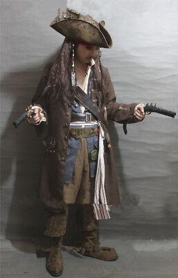 Cosplay Captain Jack Sparrow Costume Full Body Suit Pirates Of the - Jack Sparrow Full Costume