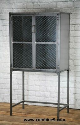 Modern Industrial Apothecary Medicine Cabinet Storage Cabinet Display Case