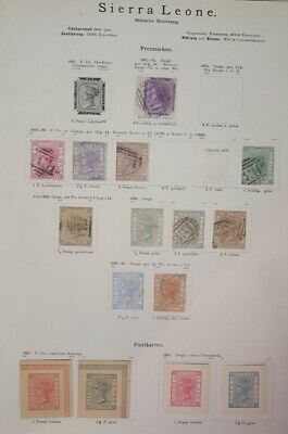 SIERRA LEONE 1871-1890 Used/Unused Classic Lot on Old Album Page Unchecked