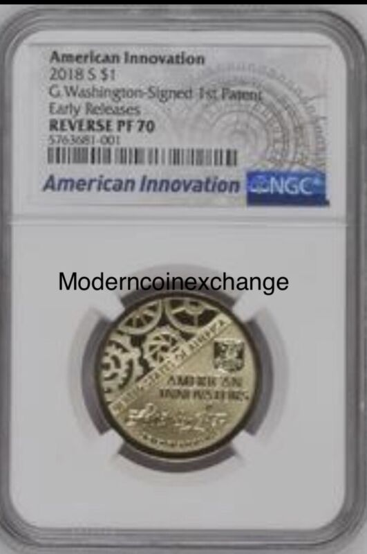 2018 S REVERSE PROOF American Innovation Dollar $1 NGC PF70 Early Release