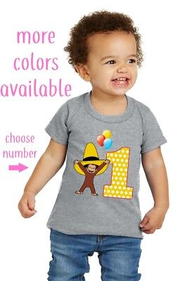 Curious George Hat T-shirt, CHOOSE AGE, OwnageINK Tees NEW Toddler Youth, COLORS