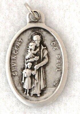 ST VINCENT DE PAUL Catholic Saint Medal Patron charities hospitals (Paul Patron Saint Medal)