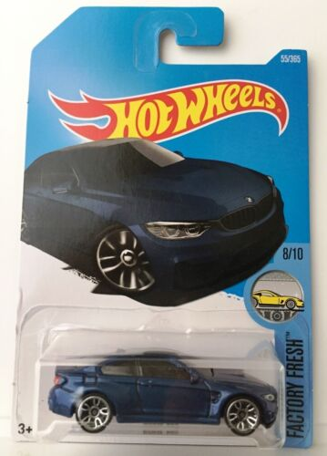 Hot Wheels BMW M4 - Dark Blue 2017 Factory Fresh 8/10 C-case F82 F83 car m-coupe