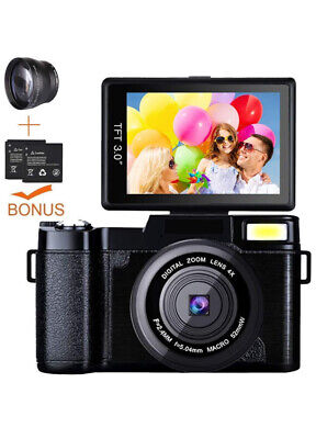Weton Camera Camcorder Full HD 1080P Video Camera 3 Inch Flip Screen Vlogging