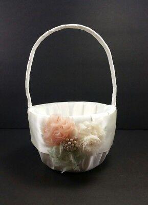 Studio His and Hers Flower Basket Wedding Flower Girl #1089853 New