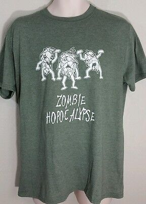 Halloween Sayings Funny (Craft Beer Zombie Apocolypse Hops T Shirt Sz L XL Funny Saying Halloween)