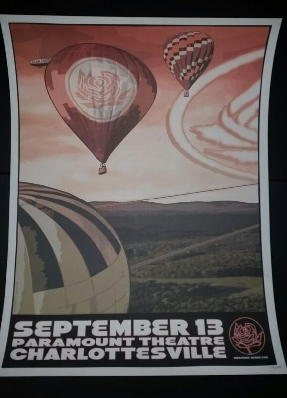 RYAN ADAMS Charlottesville 2012 Numbered #/300 Tour Poster Cardinals Lithograph