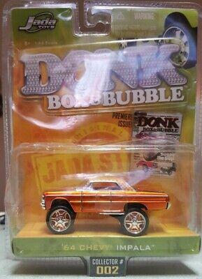 Jada Toys Donk Box & Bubble 1964 Chevy Impala Orange 1:64 Scale 2006 Wave 1