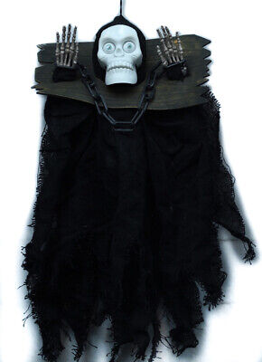 Talking Skeleton Grim Reaper Prisoner Halloween Decoration Prop - Grim Reaper Halloween Props