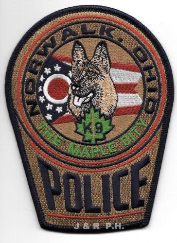 "Norwalk  K-9, Ohio ""Maple City"" (3.75"" x 5"") shoulder police patch (fire)"