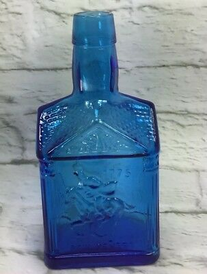 Paul Revere Cobolt Blue Bottle Wheaton NJ Marks On Bottom 8 Inches Tall