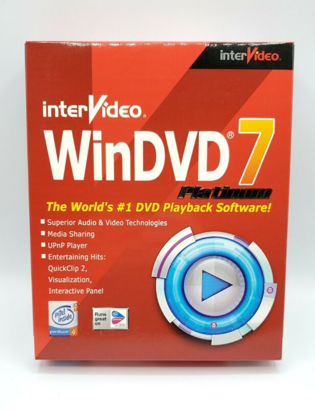 InterVideo WinDVD 7 Platinum #1 Playback PC Software Win New Sealed