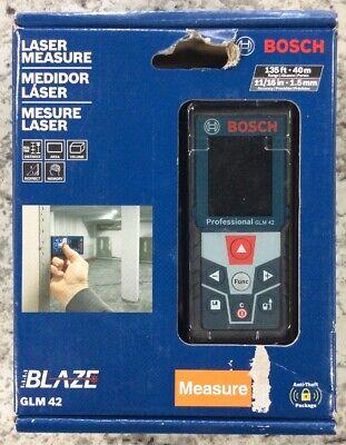 Bosch Glm 42 Blaze 135 Laser Distance Measurer - New Free Shipping