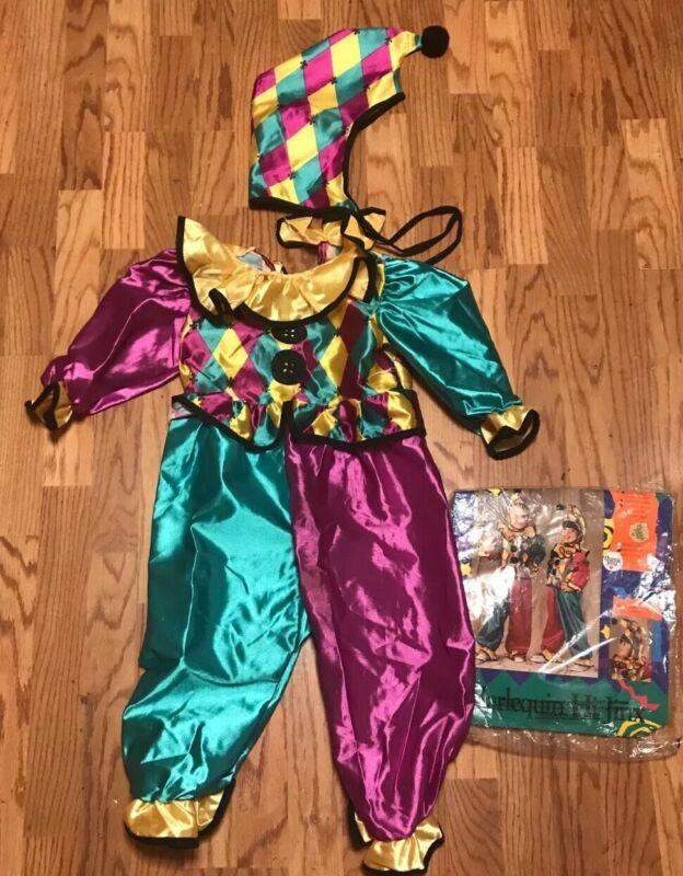 Medieval Renaissance Jester Clown Juggler Halloween Costume Kids Child 2-4