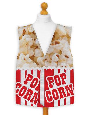 Popcorn Dress Costume (Novelty Waistcoat Fun Fancy Dress Informal Wacky Festival Stag Party)