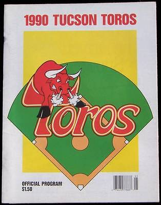 1990 VANCOUVER CANADIANS @ TUCSON TOROS PACIFIC COAST LEAGUE BASEBALL PROGRAM