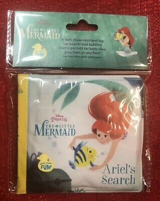 Disney Princess Little Mermaid Baby Bath Time Bubble Book : Ariel's Search -