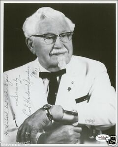 COLONEL-HARLAND-SANDERS-Signed-Photograph-Businessman-Restauranteur-KFC