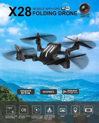 5G WiFi FPV 8MP 1080P HD Camera Dual GPS Brushless Quadcopter Drone Follow Me