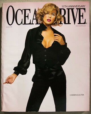 CARMEN ELECTRA COVER Ocean Drive Magazine January 2004 South Beach Ben Affleck!