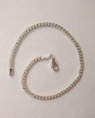 """New 925 Sterling Silver Anklet Bracelet Chain 10"""" Curb Link Design  G1139"""