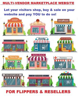 Multi-vendor Marketplace Website For Sale Let People Buy And Sell On Your Site
