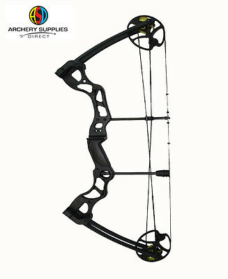 "New ASD Hawk Adult Fully Adjustable Compound Bow Black 50-70Lbs 26-31"" D-Length"
