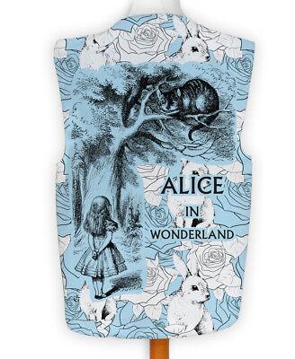 NEUHEIT Weste Kostüm Spass Legere Hirnrissig Alice im Wunderland blau Hase ()