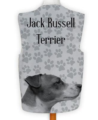 Novelty Waistcoat Fun Fancy Dress Informal Wacky Dog Show Jack Russell Paw Print
