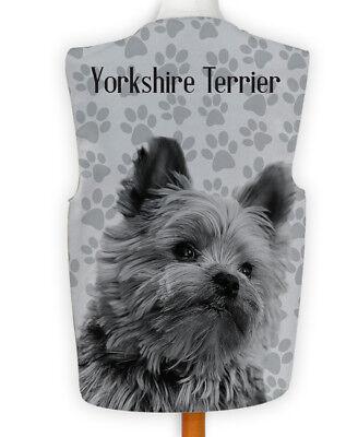 Novelty Waistcoat Fun Fancy Dress Wacky Dog Show Yorkshire Terrier Paw Print