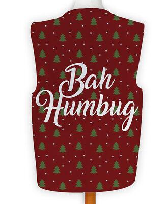 Weihnachten Neuheit Weste Kostüm Spass Legere Bah Humbug Fünf - Bah Humbug Kostüm