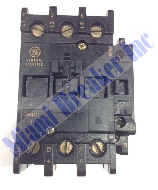 General  Electric Contactor CR4CJ-11 90A 120V 3 Pole Unit