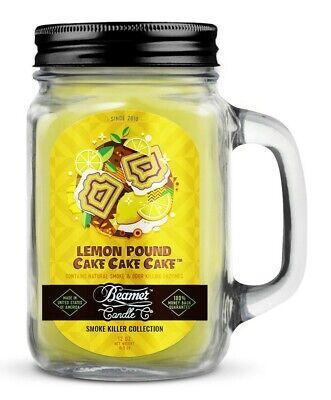 Beamer Smoke Killer Candle 12 oz - Scent: Lemon Pound Cake Cake Cake - The Best!