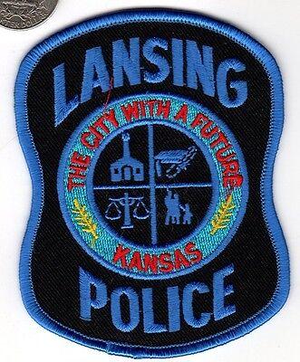 POLICE PATCH City Police Department LANSING KANSAS Cloth Badge Sheild