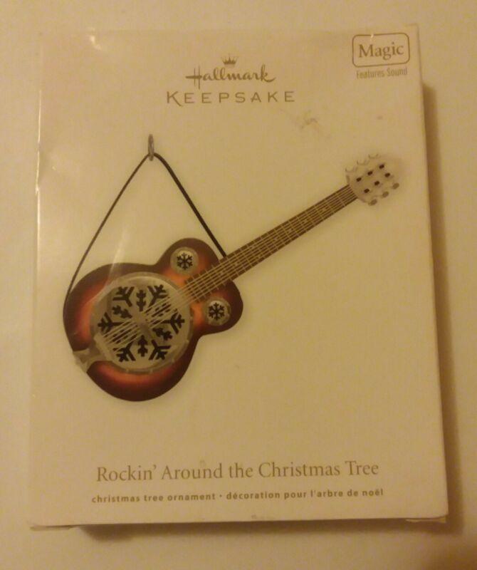 Hallmark Keepsake Musical Snowflake Christmas Guitar Ornament Toby Keith 2011