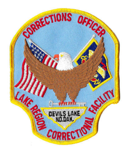 POLICE PATCH NORTH DAKOTA DEVILS LAKE CORRECTIONS CORRECTION OFFICER FACILITY