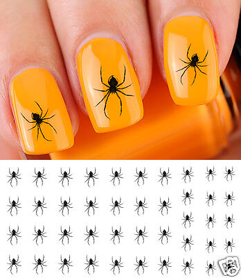 Scary Spider Nail Art Waterslide Decals - Salon Quality! - Great for Halloween! - Scary Halloween Nails