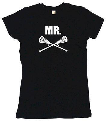 (Mr Crossed Lacrosse Sticks Womens Tee Shirt Pick Size Color Petite Regular)